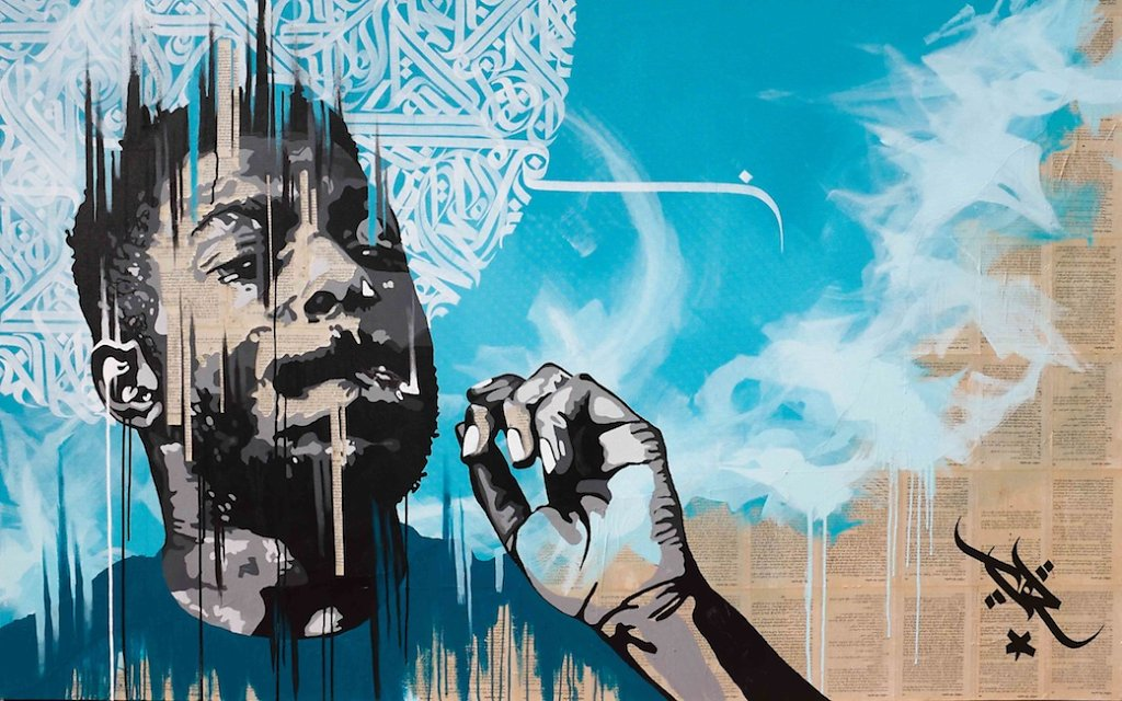 No name - collage, acrylic and ink on canvas 120 X 200 cm-SOLD OUT-