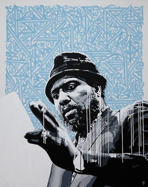 Thelonious- acrylic and ink on canvas-180X120cm-