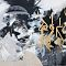 A new day-Collage,acrylic and ink on canvas-120X200 cm-SOLD OUT-